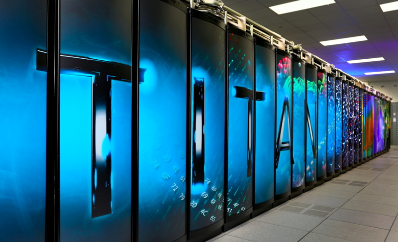 For illustrative purposes, above is the Titan Cray XK7,  nation's most powerful supercomputer for open science at the The Oak Ridge Leadership Computing Facility