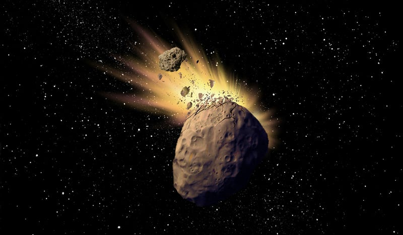 Illustration for article titled The strangest asteroid that astronomers had ever seen