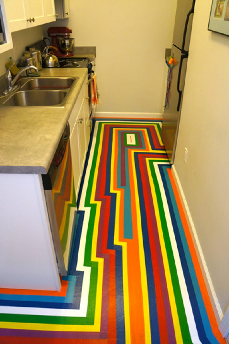 DIY: How To Give Your Apartment A Bold New Floor For Less Than $100