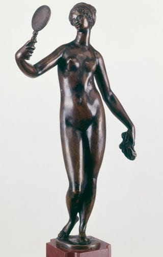 French or Netherlandish, Black Venus, second half of the 16th century. Bronze, 40.3 cm high.The Metropolitan Museum of Art, New York City