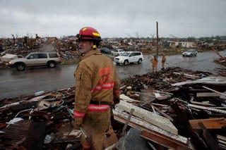 A monster tornado decimated Joplin, Mo. (Getty)