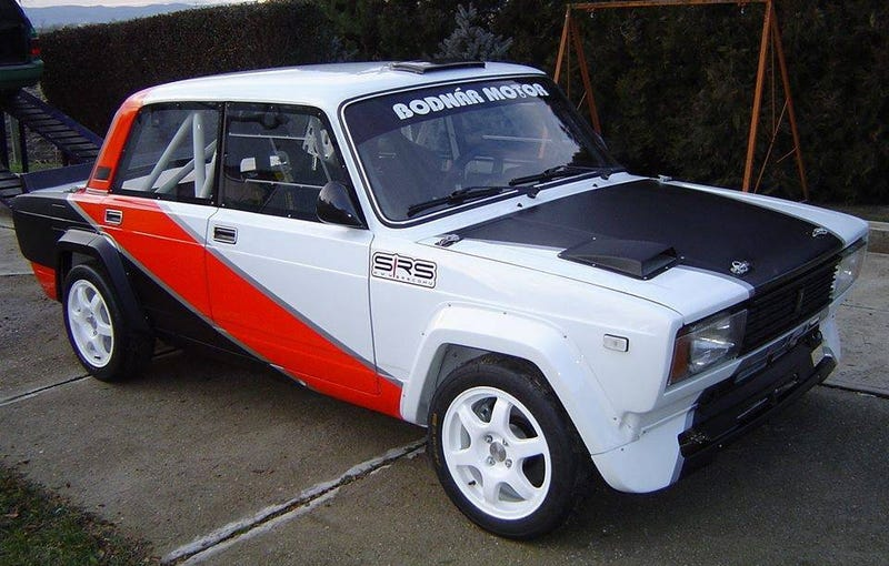 Illustration for article titled For $40,000, Could This 1987 Lada VFTS Rally The Troops?