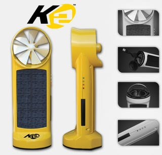 Illustration for article titled Kinesis K2 Puts Solar and Wind Charging Power In a Handheld Unit