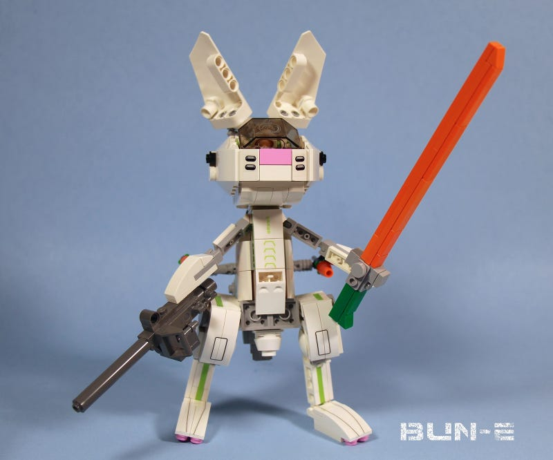 Illustration for article titled Lego Transforming Mecha Bunny