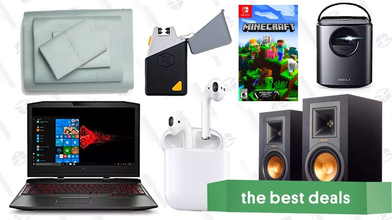 Illustration for article titled Tuesday's Best Deals: Apple AirPods, Portable Projector, Gaming Laptop, and More