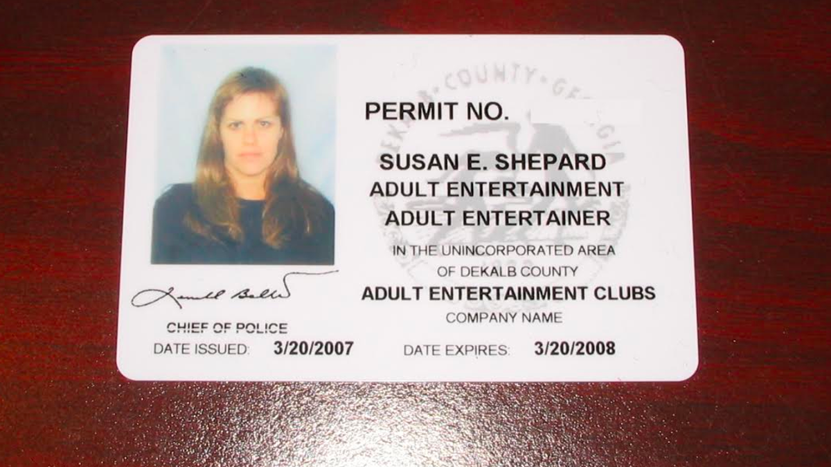 Adult entertainment license