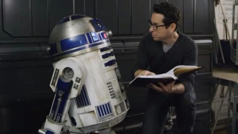 J.J. Abrams with R2-D2, who we assume is in Episode IX.
