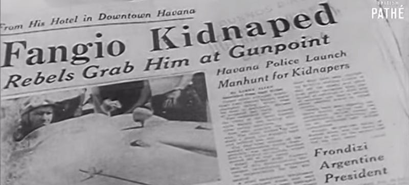 Illustration for article titled The Day Cuba Kidnapped Fangio, The Greatest Driver In History