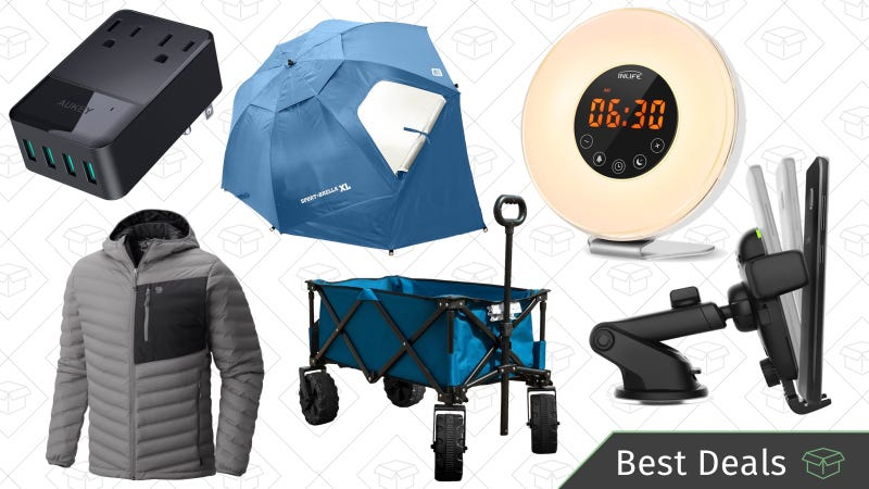 Illustration for article titled Saturday's Best Deals: Wake-Up Lights, Utility Cart, Qi Charging Pads, and More