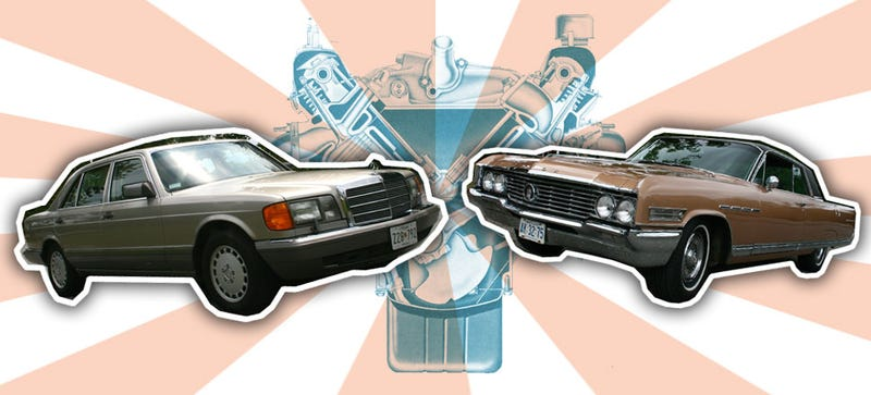 Illustration for article titled What It's Like To Drive Classic V8 Cruisers From Mercedes And Buick