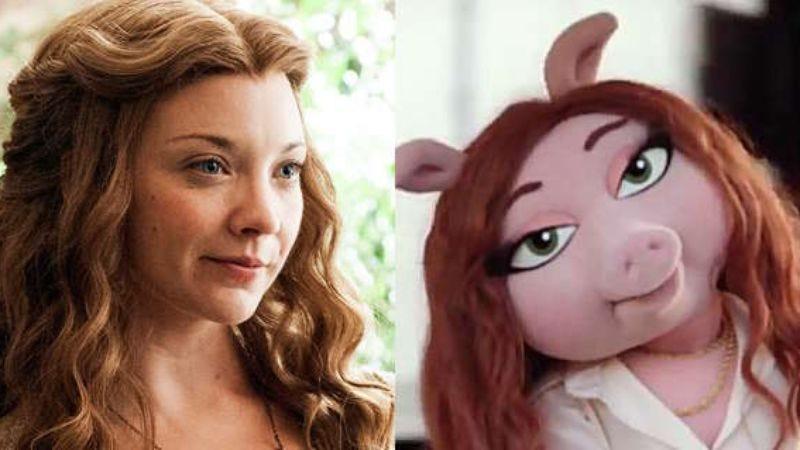 Natalie Dormer and Denise The Pig
