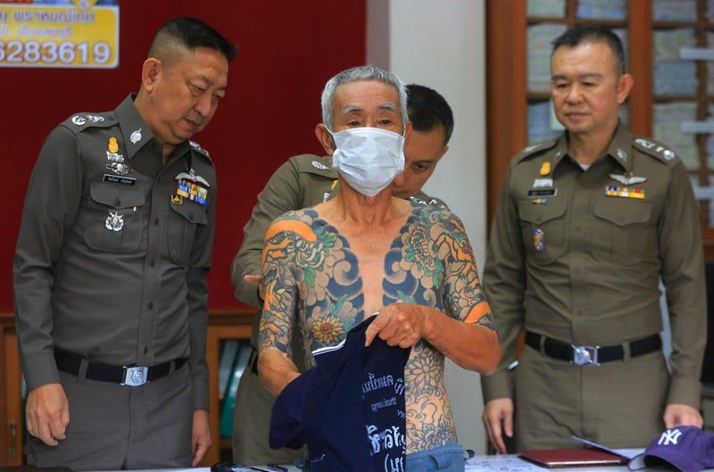 Shirai tras la detención. AP