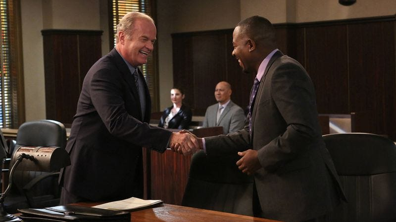 Kelsey Grammer (left) and Martin Lawrence in Partners