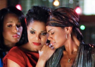 Kerry Washington, Janet Jackson and Kimberly Elise star in For Colored Girls.