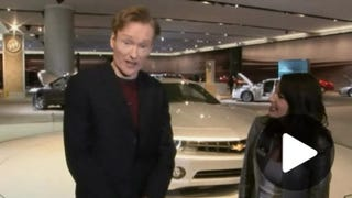Illustration for article titled Late Night With Conan O'Brien Hits Detroit Auto Show