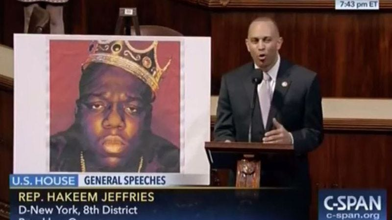 Illustration for article titled Congressman realizes American dream by rapping Biggie song on House floor