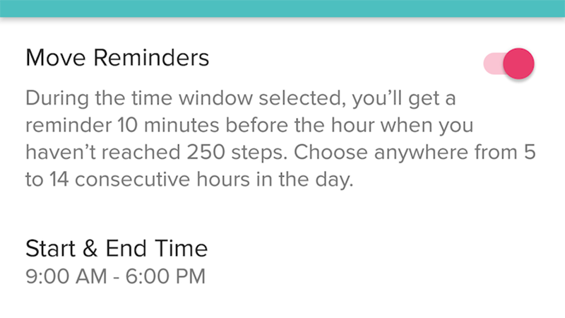 Illustration for article titled FitBit Can Now Remind You to Move Periodically Throughout the Day