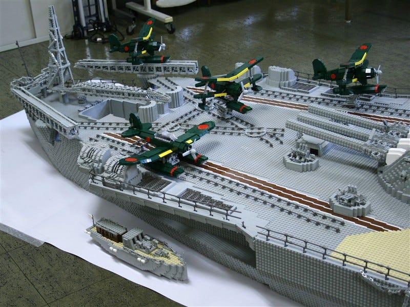 Lego Battleship Yamato Is Biggest Lego Ship Ever - Biggest lego ship