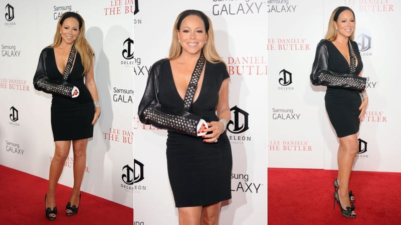 Illustration for article titled Mariah Carey Should Permanently Rock Bejeweled Slings