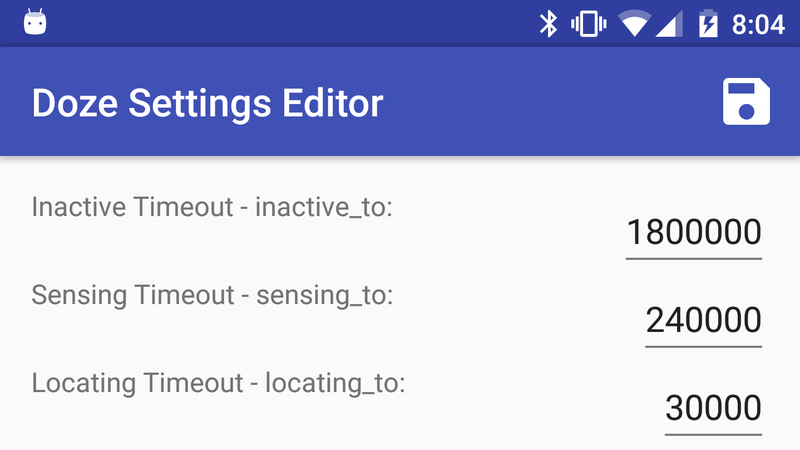 Illustration for article titled Doze Settings Editor Lets You Tweak Android Marshmallow's Best Feature
