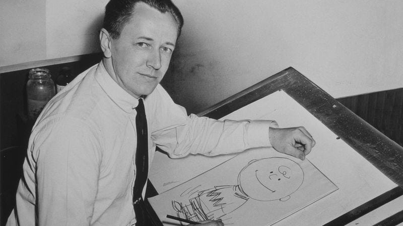 Illustration for article titled Charles Schulz Estate Releases Hundreds Of Rare, Never-Before-Seen Images Of Him Posing Next To An Easel