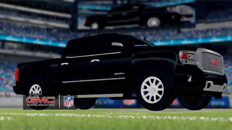 Illustration for article titled Madden 25 Is Mostly A Football Game, Partly A GMC Ad Campaign