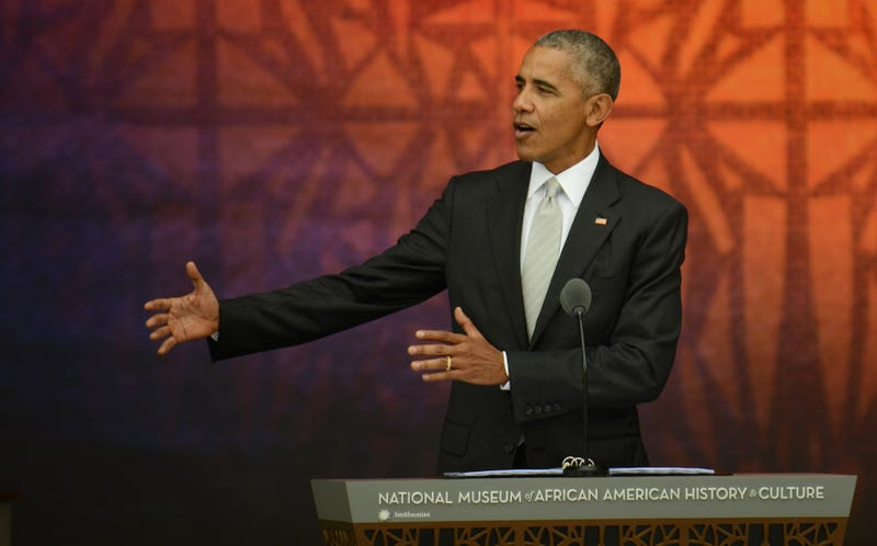 President Barack Obama speaks at the dedication of the National Museum of African American History and Culture on Sept. 24, 2016, in Washington, D.C.Astrid Riecken/Getty Images