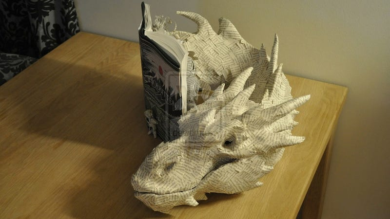 Illustration for article titled ​Artist Turns The Hobbit Book Into Paper Sculpture Of Smaug