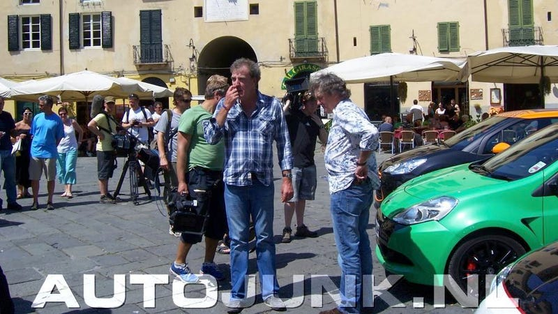 Illustration for article titled Spy on Top Gear's hot-hatch romp in Lucca, Italy