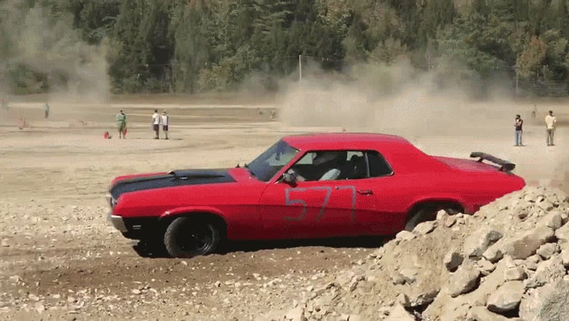 A Classic Mercury Cougar Sideways In The Dirt Is Proof You Should