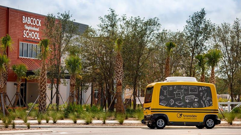 The Transdev school bus