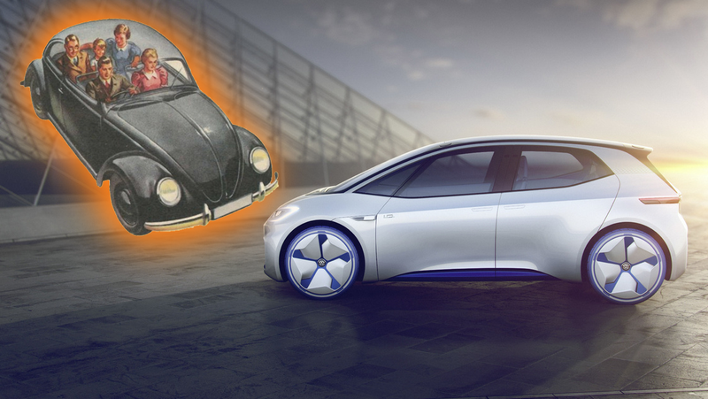 Illustration for article titled The VW Beetle Could Return As A Four-Door Rear-Wheel Drive Electric Car: Report