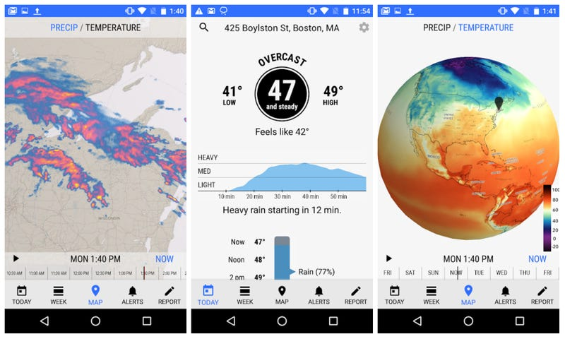 Illustration for article titled The Excellent Dark Sky Weather App Finally Makes Its Way to Android