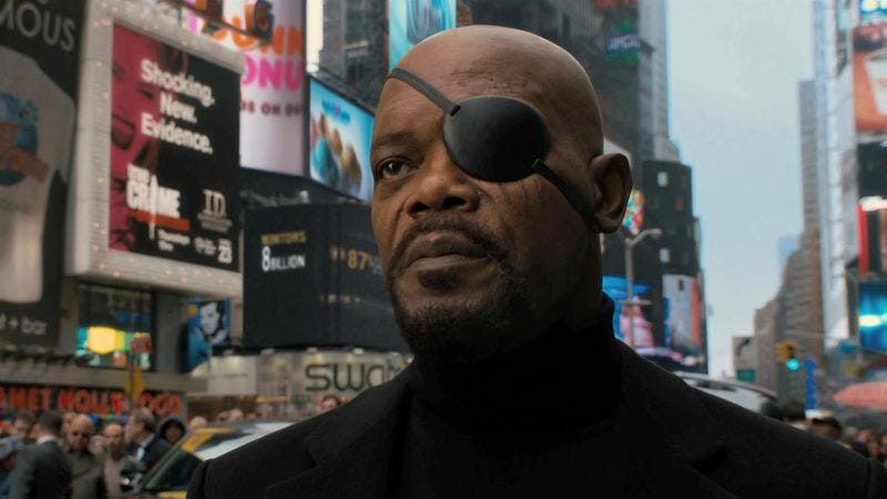 Samuel L. Jackson as Nick Fury in Captain America: The First Avenger