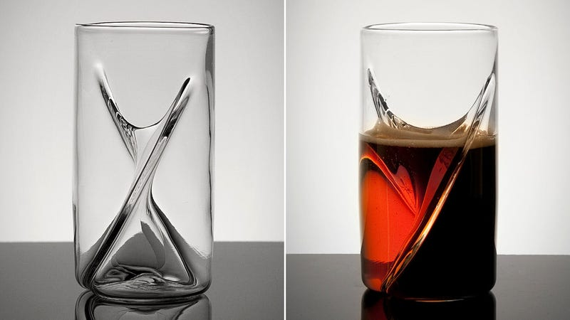 A Handblown Dual Beer Glass That Lets You Enjoy Two Ales At Once