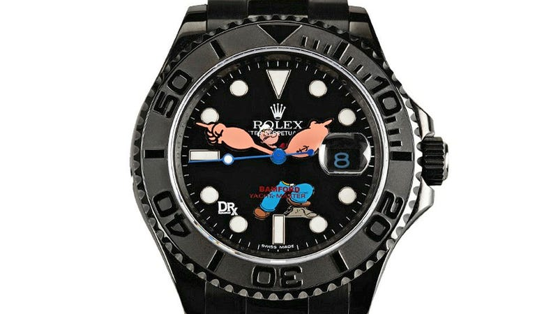 Illustration for article titled Custom Popeye Rolex Is $32,000 and Worth Every Penny