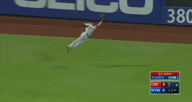 Billy Hamilton Lays Out For Spectacular Catch, Possibly Angers …