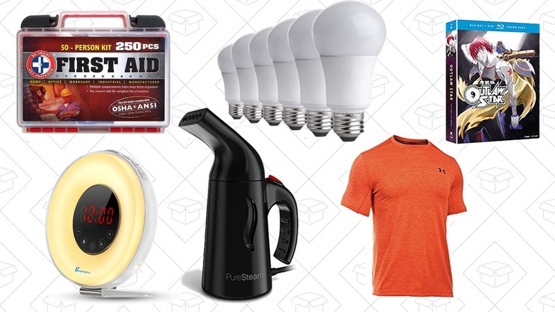 Illustration for article titled Saturday's Best Deals: Under Armour Gold Box, Wake-Up Light, Anime Blu-rays, and More
