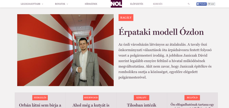 Illustration for article titled Soha nem nézett ki ilyen jól a Népszabadság online címlapja