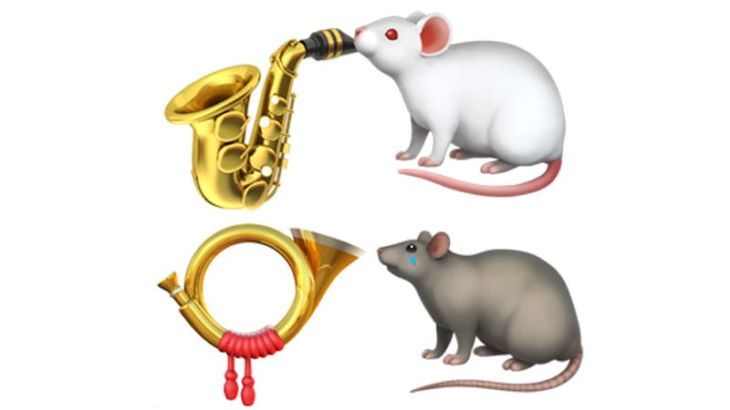Illustration for article titled I'm Begging You Emoji Overlords, Rescue This Adorable Animal Horn Section