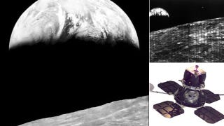 Illustration for article titled World's First Images of The Earth Taken From The Moon's Orbit