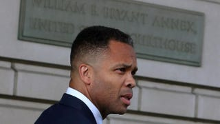 Former Rep. Jesse Jackson Jr. leaves the federal court house after being sentenced to prison Aug. 14, 2013, in Washington, D.C. Jackson was sentenced to 30 months in prison for using $750,000 in campaign money to pay for living expenses and luxury items.Mark Wilson/Getty Images