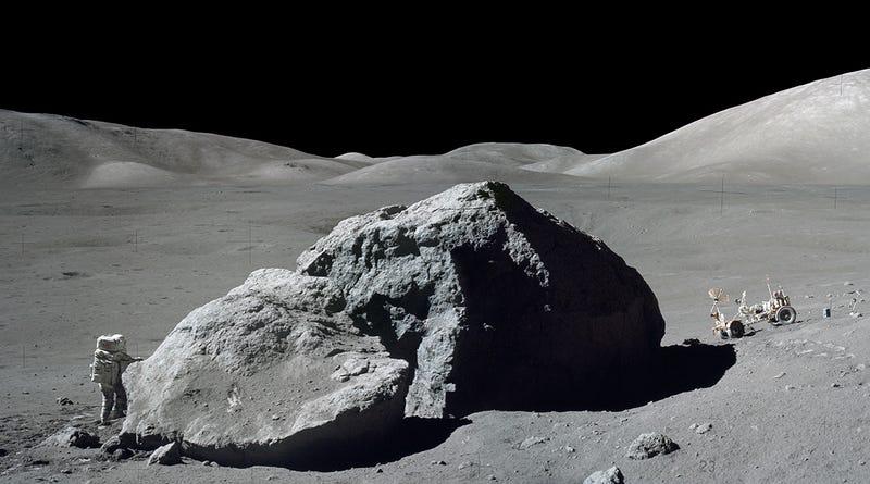 Una de las fotos tomadas durante la Misión Apolo 17, la última en pisar la Luna.