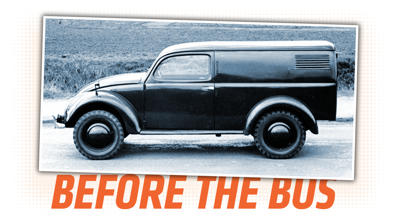 Illustration for article titled This Wartime Volkswagen Prototype Van Is Fascinating and a Little Confusing