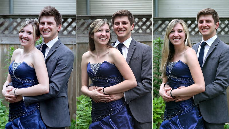 Illustration for article titled Relationship Goals: This Awesome Couple Recreated Their High School Prom Photo Every Year For Two Years Until They Broke Up