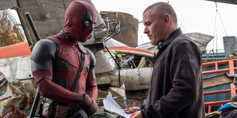 Tim Miller and Ryan Reynolds on the set of Deadpool. Image: Fox