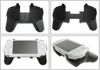 Illustration for article titled PSP Flexible Grip Gives Dualshock-Like Controls