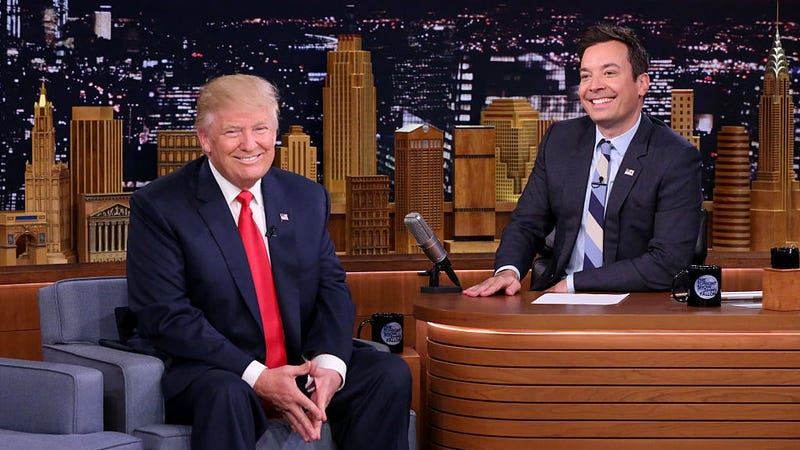 Illustration for article titled Donald Trump and Jimmy Fallon's petty, lukewarm feud continues