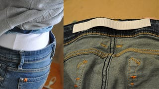 Illustration for article titled Get Rid of the Gap in Your Jeans With a Small, Elastic Strip