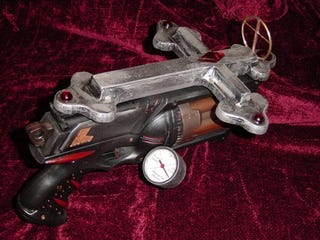 "Illustration for article titled Shagnasty ""Model 666"" is Fake Plastic Steampunked Nerf Pistol"
